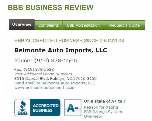 Belmonte Auto BBB Page