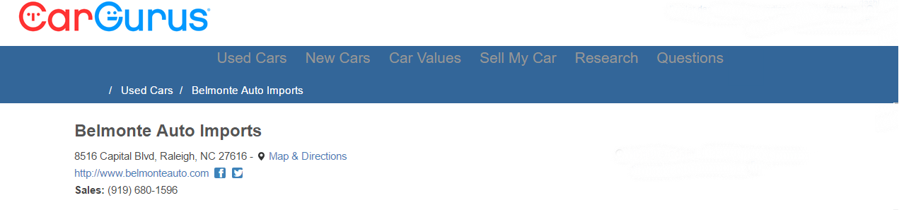 Cargurus review banner
