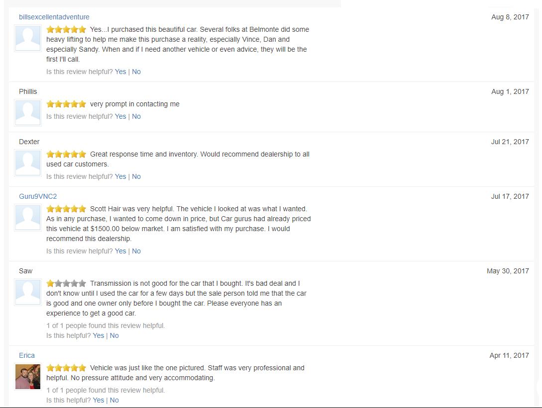 Cargurus reviews 4